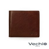 【VECHIO】經典商務男仕系列-3卡透明窗皮夾(秋葉褐)VE041W01BR