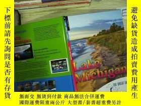 二手書博民逛書店the罕見great lake michigan 密歇根大湖Y180897