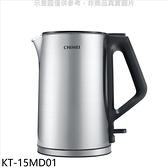 奇美【KT-15MD01】1.5公升三層防燙不鏽鋼銀色快煮壺