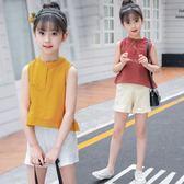5兒童裝6女大童夏裝套裝7運動8洋氣女孩十歲小學生時尚兩件套14潮