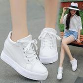 內增高鞋 系帶厚底高幫  正韓 休閒 小白鞋