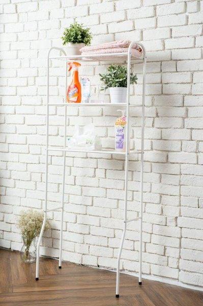 ☆幸運草精緻生活館☆馬桶置物架 收納架 白色 小冰箱架 台灣精品