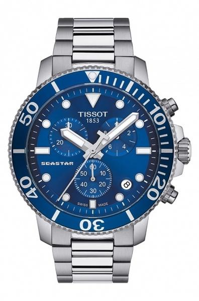 TISSOT 天梭錶 SEASTAR1000海洋之星300m潛水石英款T12041711041藍/46mm