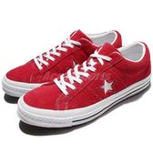 Converse 滑板鞋 One Star 紅 白 麂皮 休閒鞋 一顆星 星星 男鞋 女鞋 【PUMP306】 158434C