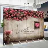 訂製屏風隔斷房間客廳時尚臥室省空間服裝店簡約折疊移動推拉現代折屏YXS 韓小姐的衣櫥