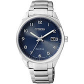 CITIZEN Eco-Drive 光動能經典簡約女錶-藍x銀/35mm EO1170-51L