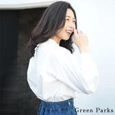 ❖ Spring ❖ 後蝴蝶結綁帶襯衫上衣 - Green Parks