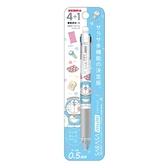 〔小禮堂〕哆啦A夢 日製多色原子筆自動鉛筆《藍白.拿道具》0.5mm.SARASA系列 4901772-58420