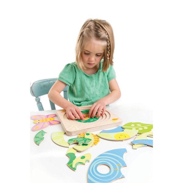 【美國Tender Leaf Toys】蛻變蝴蝶拼圖(左右腦啟蒙學習教具)