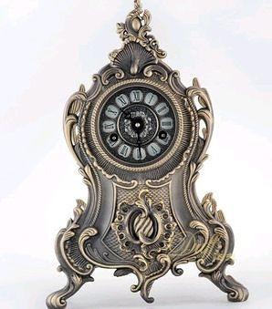歐式時尚創意金屬客廳機械仿古打點創意客廳大座鐘-duff0015