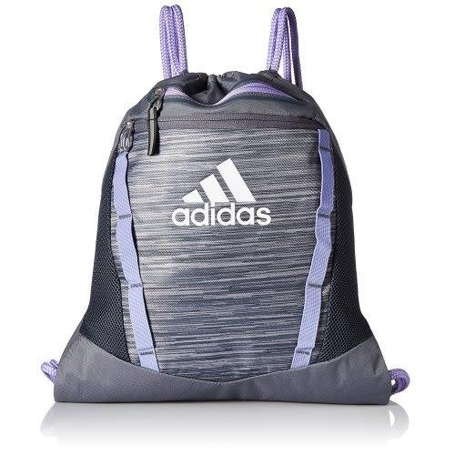 Adidas- 團隊Rumble運動後背袋(瑪瑙黑/紫色)