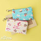 日貨蠟筆小新皮革方型扁零錢包- Norns 日本進口 附鎖圈 鱷魚餅乾 小白 左衛門