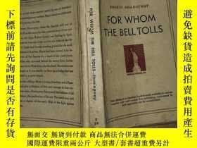 二手書博民逛書店民國版:For罕見Whom the Bell Tolls(英文