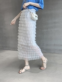 韓版2020春夏新款蕾絲多層次蛋糕裙半身裙中長款高腰網紗裙長裙女 【ifashion·全店免運】