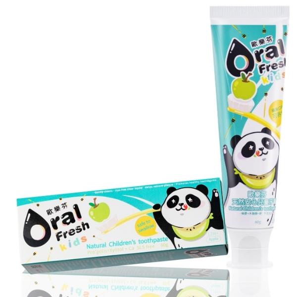 天然安心兒童牙膏-蘋果口味(60g)【Oral Fresh歐樂芬】