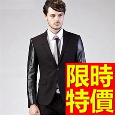 男款皮衣外套-休閒質感潮流新款男西裝外套62i7【巴黎精品】
