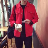秋季新款男士牛仔外套韓版潮流工裝休閒夾克港風學生修身上衣