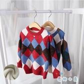 男女童毛衣套頭寶寶童裝加絨加厚兒童針織打底衫【奇趣小屋】