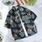 港風vintage花襯衫復古美式短袖花襯衫男女ins超火潮流夏威夷襯衣 創意空間