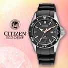 CITIZEN 星辰手錶專賣店 EP6040-02E 女錶 Eco-Drive光動能  日系 不鏽鋼錶殼膠質錶帶 黑 防水200米