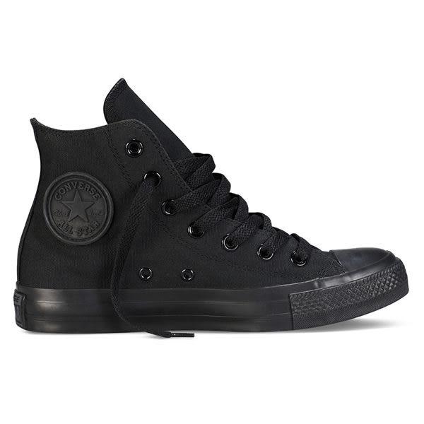 CONVERSE CTAS All Star 帆布 舒適 高筒 基本款 戶外休閒鞋 純色 全黑 黑色 女鞋 M3310C