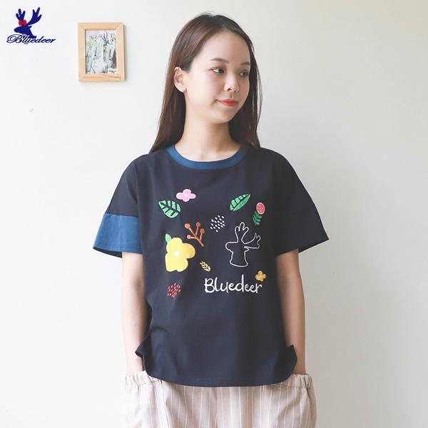 【秋冬降價款】American Bluedeer- 森林風T恤(魅力價)  秋冬新款
