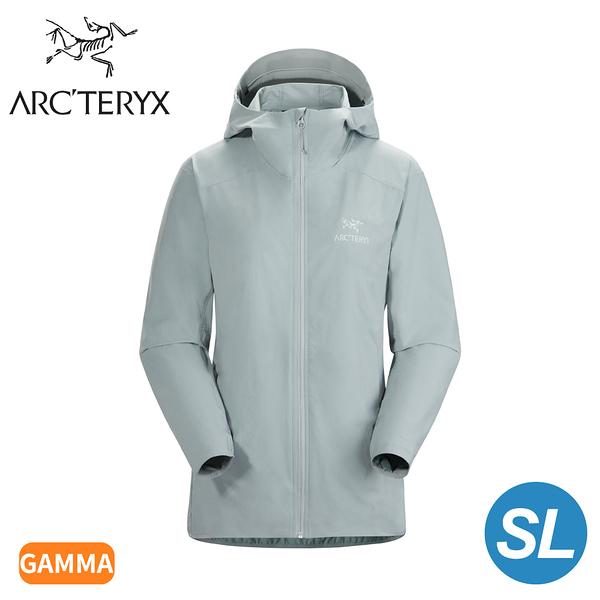 【ARC'TERYX 始祖鳥 女 Gamma SL軟殼外套《銀翼灰》】28211/連帽外套/輕薄防風