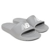New Balance 男女款灰色休閒涼拖鞋-NO.SUF100TG