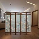 中式屏風隔斷實木客廳摺疊玄關行動辦公室裝飾現代間約半透明摺屏 1955生活雜貨NMS