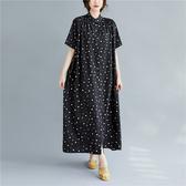 依多多 圓點長襯衫連身裙 1色(均碼)