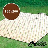 【PolarStar】多功能防潮睡墊/野餐墊『三角松樹/白底』150*200cm  P18723B 露營.遊戲墊.沙灘墊.防潮地墊