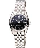 TITONI Airmaster 復刻日曆晶鑽腕錶-黑/27mm 23909S-354