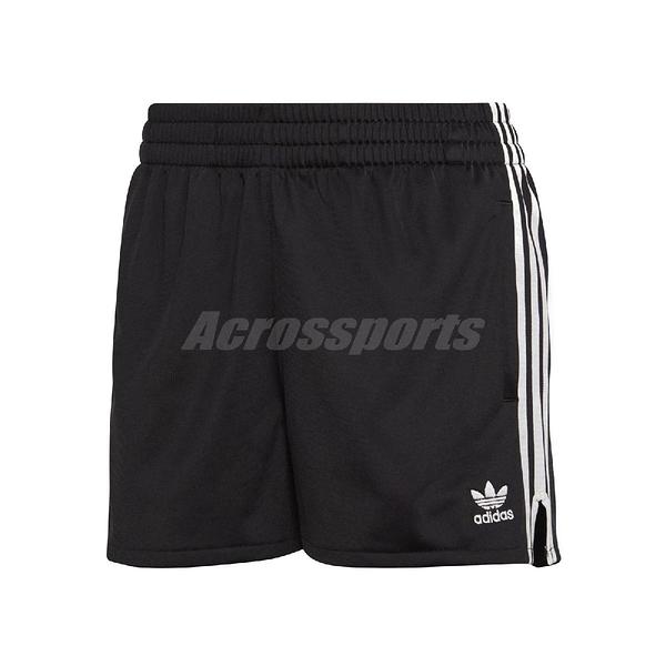 adidas 短褲 Originals 3 Stripes 黑 白 女款 三葉草 三條線 運動褲 【ACS】 CY4763