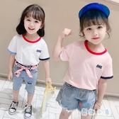 女童短袖t恤夏季半袖上衣洋氣韓版休閒【奇趣小屋】
