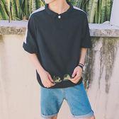 夏季男士短袖t恤日韓潮流學生百搭原宿bf風寬鬆港風polo衫M-XL