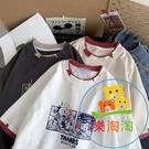 日系卡通t恤女短袖寬鬆韓版夏季顯瘦百搭鹽系半袖 樂淘淘