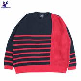 【三折特賣】American Bluedeer - 橫條紋撞色毛衣(魅力價)  秋冬新款