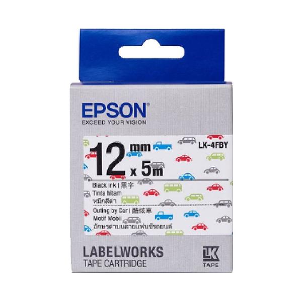 【Pattern系列】EPSON LK-4FBY C53S654466 酷炫車標籤帶12mm