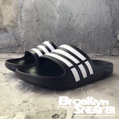 Adidas Duramo  經典黑白 防水 海灘 女 拖鞋 (布魯克林) 2018/7月 G06799