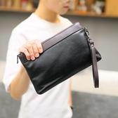 男手拿包  商務新款男士手拿包 休閒潮流撞色手腕包 夏季便攜帶手機包