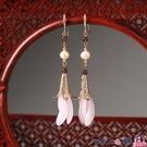 熱賣古風耳環 古風珍珠仙氣耳環女中國風耳墜長款純銀復古漢服耳飾2021年新款潮 coco