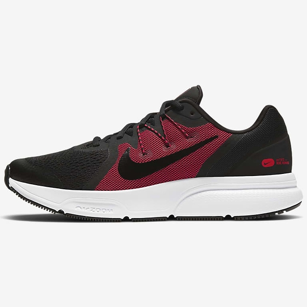 NIKE Zoom Span 3 男鞋 慢跑 氣墊 緩震 靈敏 穩定 黑紅 【運動世界】CQ9269-005