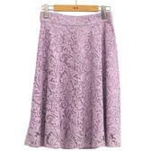 單一優惠價[H2O]優雅顯瘦水溶蕾絲膝下波浪圓裙 - 綠/淺紫色 #9672025