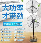 工業電風扇強力大功率商用牛角扇搖頭掛牆壁掛扇大型機械式落地扇220Vigo 自由角落