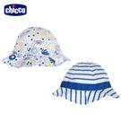 chicco-TO BE-繽紛海洋雙面荷葉帽
