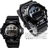 G-SHOCK CASIO卡西歐 DW-6900NB-1 電子錶 黑色液晶 亮黑橡膠 53mm 男錶 DW-6900NB-1DR