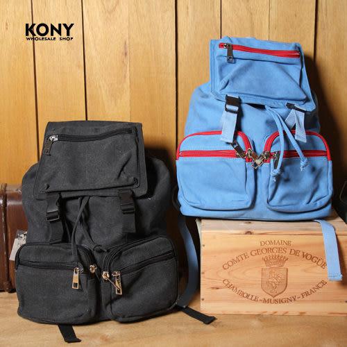 KONY【YY8603】《型男嚴選運動款多色隨身休閒款背包》