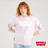 Levis 女款 重磅大學T / 經典Logo / 400GSM厚棉 / 香芋紫