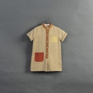 Queen Shop【04050694】童裝 親子系列口袋撞色設計連身褲 S/M/L*現+預*