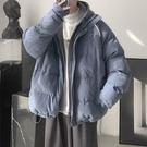 羽絨服 連帽棉衣外套男韓版港風休閑棉襖ins寬松2020冬季潮流假兩件棉服 雙十一狂歡